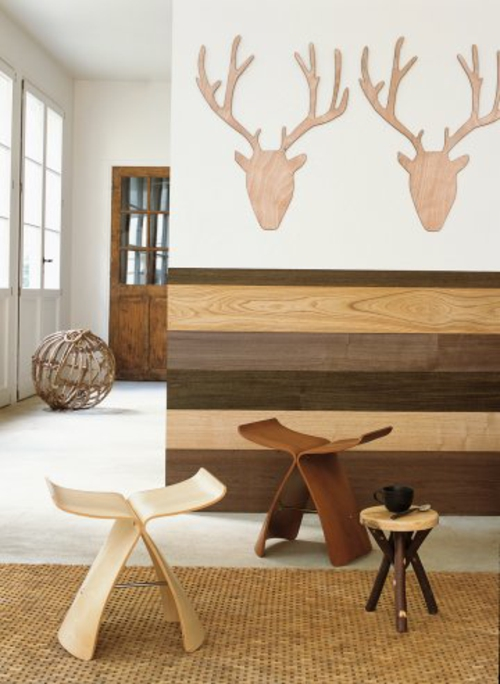 stilvolle wanddekoration aus echtholz originelle und. Black Bedroom Furniture Sets. Home Design Ideas