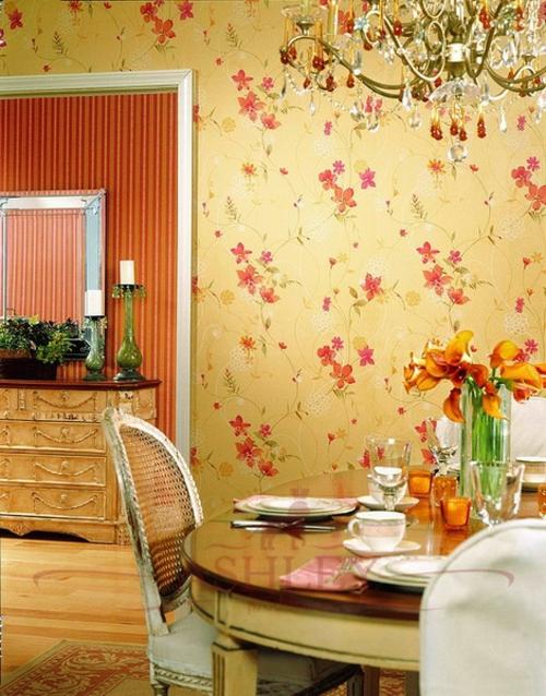 tapeteten im küchenbereich klassisch ausstattung küchenmöbel