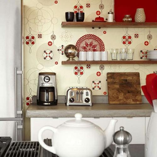 tapeteten im küchenbereich klassisch küchenarbeitsplatte