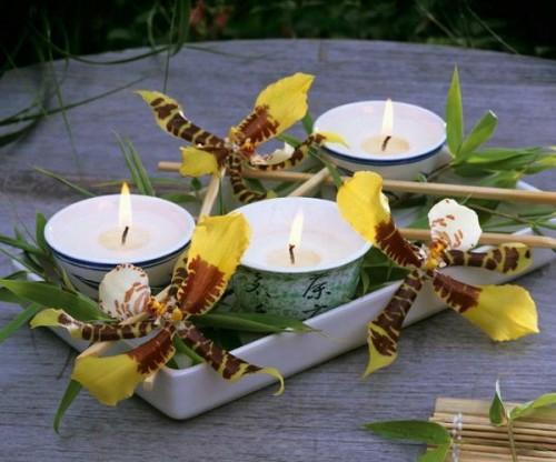 Japanische Tischdeko tischdeko mit orchideen veredeln ihren festtag