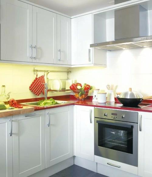 traditionell weiß kleine küche idee design praktisch