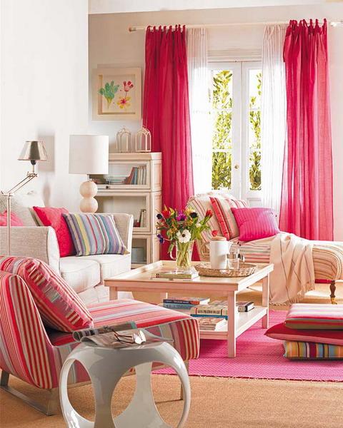 Deko design mit hilfe von unterschiedlichen stoffen for Sofa im raum