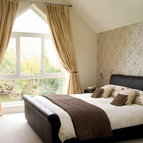 Braune Wandfarbe Entdecken Sie Die Harmonische Wirkung Der: 38 Tolle Und Behagliche Schlafzimmer Im Dachgeschoss