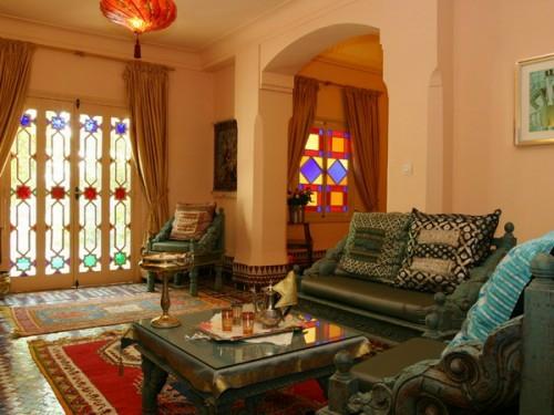 marokkanische Wohnzimmer Deko Ideen orientalischer einrichtungsstil