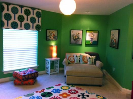 vitalisieren grün wände kinderzimmer design interieur