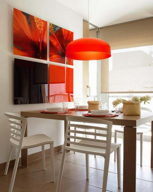 Esszimmer In Rot 15 Ideen Tipps ~ Kreative Bilder Für Zu Hause
