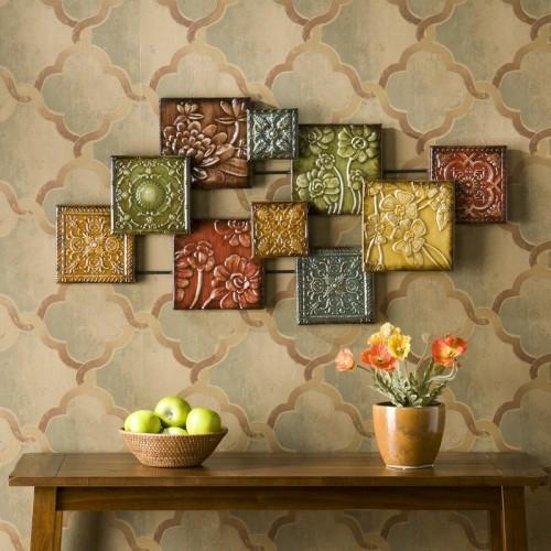 Wanddekoration wohnzimmer  15 Ideen für exklusive Wanddekoration mit Quadraten