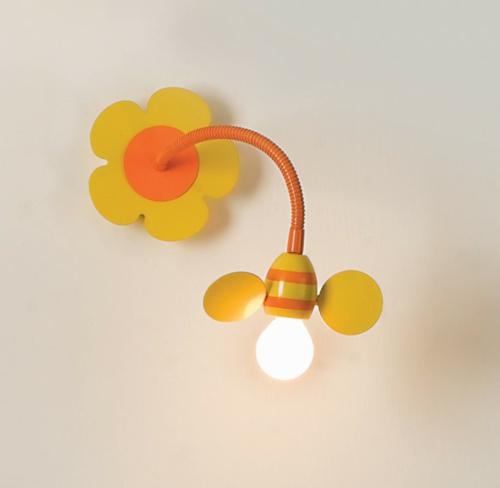 Wandlampen im Kinderzimmer designer idee originell gelb orange