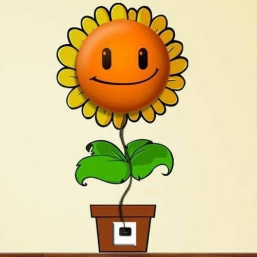 Wandlampen im Kinderzimmer designer idee sonnenblume