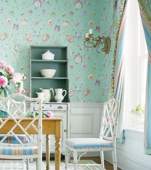 wandregale essbereich helle farben französisch design stil ländlich