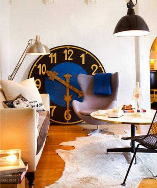 wanduhr deko idee klassisch übergroß modern interieur wohnstil