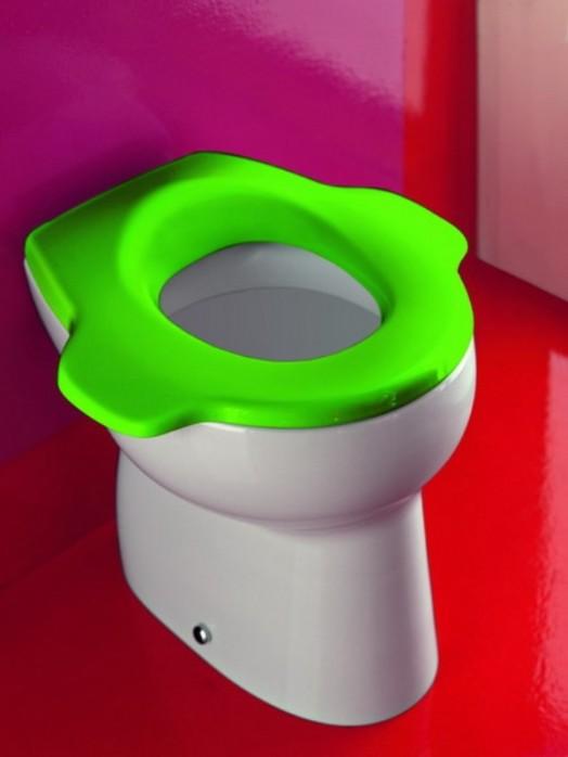 wc toilletenstuhl grün idee design glanzvoll  laufen kinder
