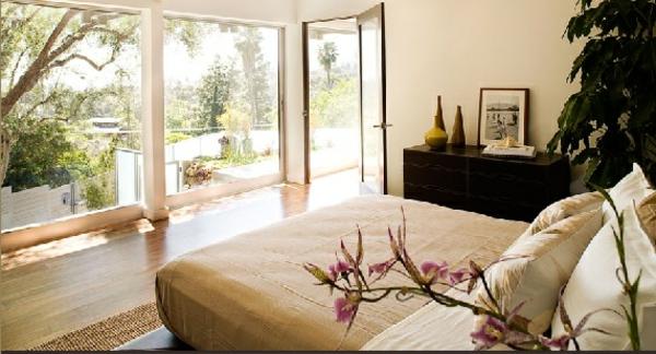 weiß japanische Deko Ideen einrichtung zen stil schlafzimmer angenehm