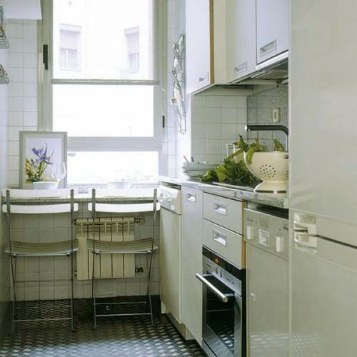 weiß küchenfliesen idee interieurkompakt kompakte Frühstückstische