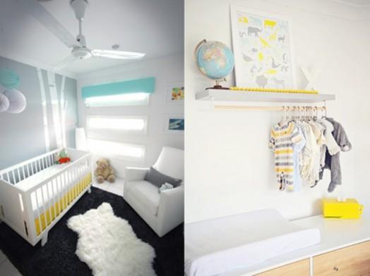 weiß kinderzimmer interieur babybett säugling teddybär