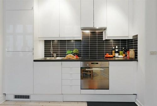 weiß kompakt kleine küche design idee