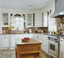 kuchen ideen weisse rustikale kuche, l- förmige küchen - nützliche ideen und tipps, Kuchen