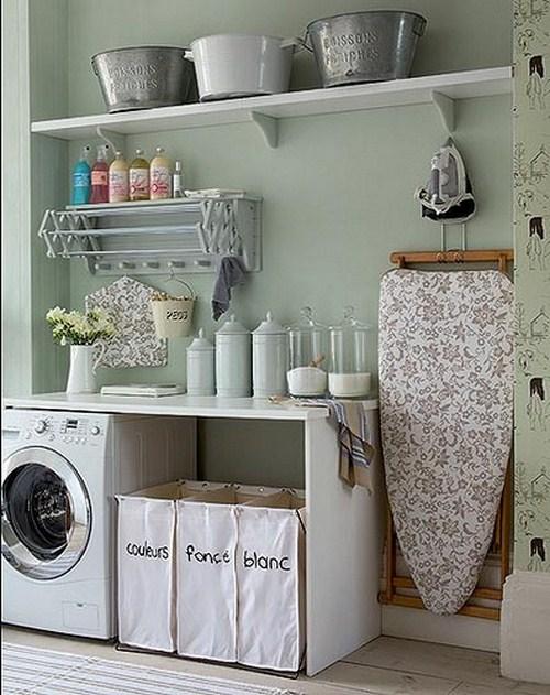 weiße Waschküche Innendekor idee ihr zuhause