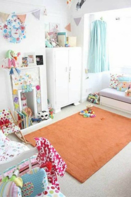 25 wei e kinderzimmer design ideen interessante und for Zimmer deko orange