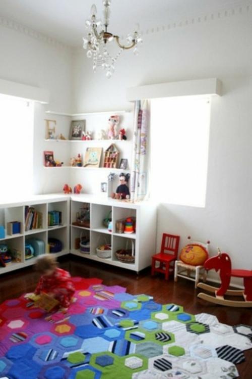 Teppich kinderzimmer jungen  25 weiße Kinderzimmer Design Ideen - interessante und coole Vorschläge