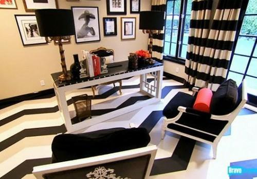 weiße beige schwarze linien fußboden design idee originell