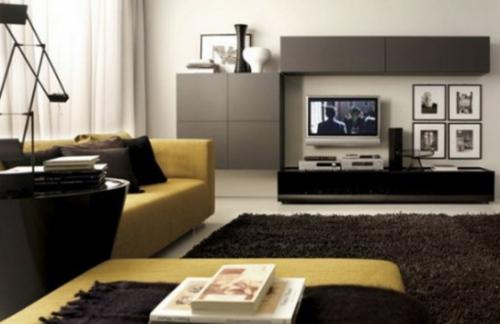 Wohnzimmer Farbe Ideen Gelb