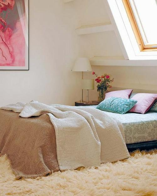 Wohnideen Wohnzimmer Braun Grn Gruene Wandfarben Idee: 38 Tolle Und Behagliche Schlafzimmer Im Dachgeschoss