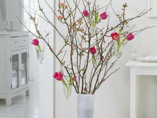 weisse ausstattung vase blumen idee deko