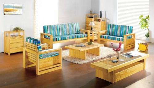 wohnzimmer design hell farben holz natural idee weich teppich