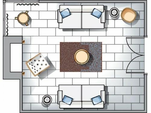wohnzimmer design voller farbkontraste schema