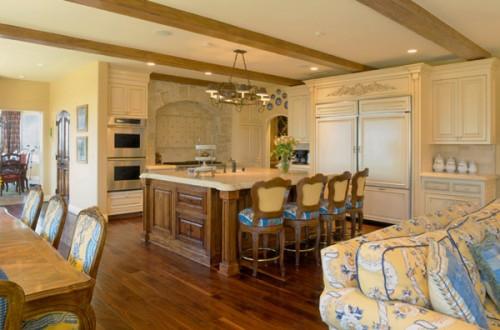 Wohnzimmer Esszimmer Küche Einem Kombination Rustikal Landhausstil  Französisch 50 Wunderschöne Interieur Ideen Im Französischen Landhausstil  ...