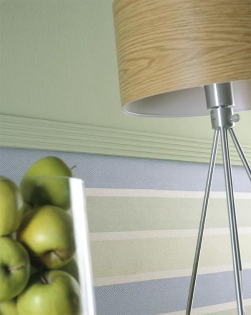 zarte farben grüne äpfel idee holz tischlampe zierleisten