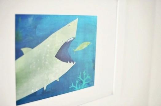 zeichnung haifisch idee deko kinderzimmer interieur