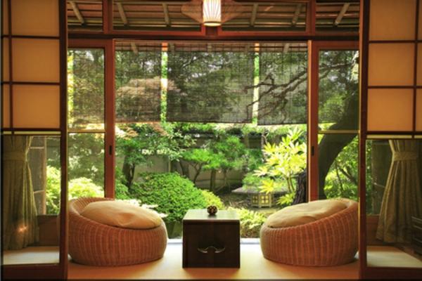 Japanische Deko Ideen Wohnung Zen Stil Sonnenterrasse