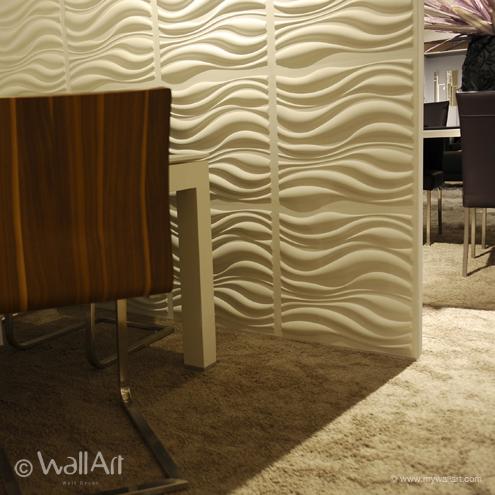 3D-Wandpaneele wellen weich teppich