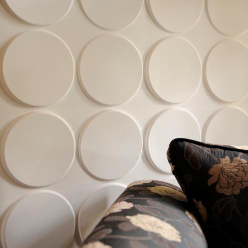 3d wandpaneele rund linien muster floral  sofa