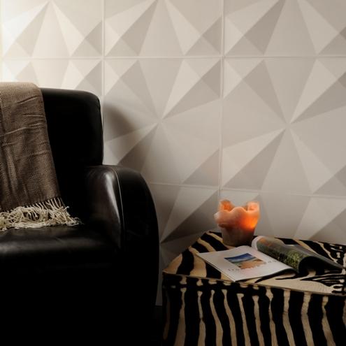3d wandverkleidung weiß ledersessel tierisch elemente wohnzimmer
