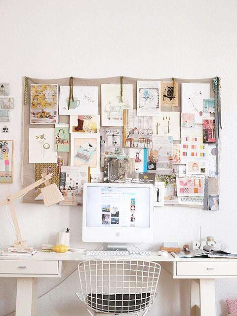 Arbeitsplatz Idee Inspirationen zur Wanddekoration