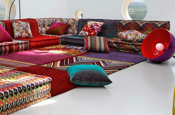 Böhmische Wohnzimmer Roche Bobois Modular Sofa Design Teppich