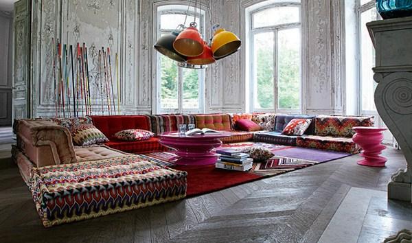 Böhmische Wohnzimmer Roche Bobois Modular Sofa fantastisches Design