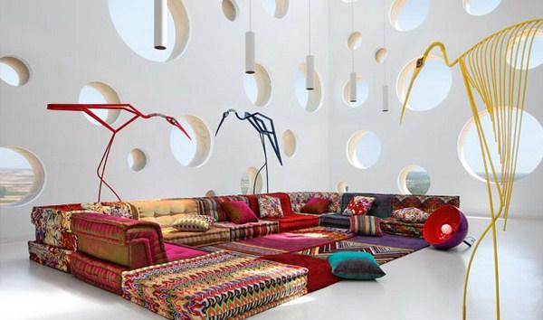 Böhmische Wohnzimmer Roche Bobois Modular Sofa modernes Design