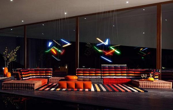 Böhmische Wohnzimmer Roche Bobois Modular Sofa unglaubliches Design