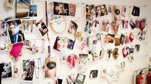 Bilder Fotos Dekor Inspirationen Wanddekoration mit Uhr