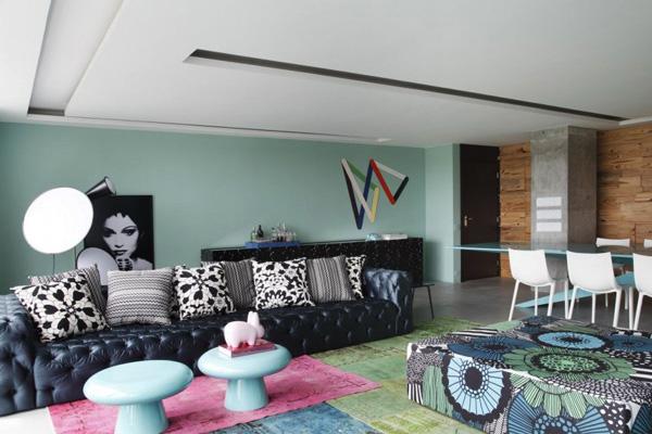 coole farbschemas offene wohnzimmer designs. Black Bedroom Furniture Sets. Home Design Ideas