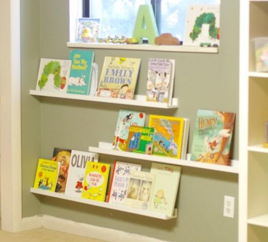 Coole Ideen Organisation von Kinderbüchereie Kinderzimmer Regal Leisten