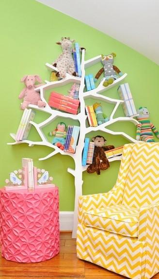Coole Ideen Organisation Kinderbüchereien Regale Bäumchen