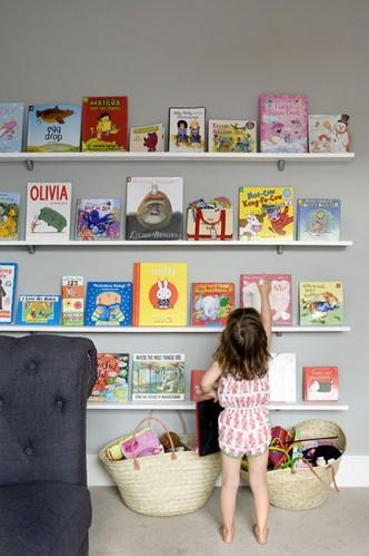 Coole Ideen Organisation Kinderbüchereien Regale Sofa