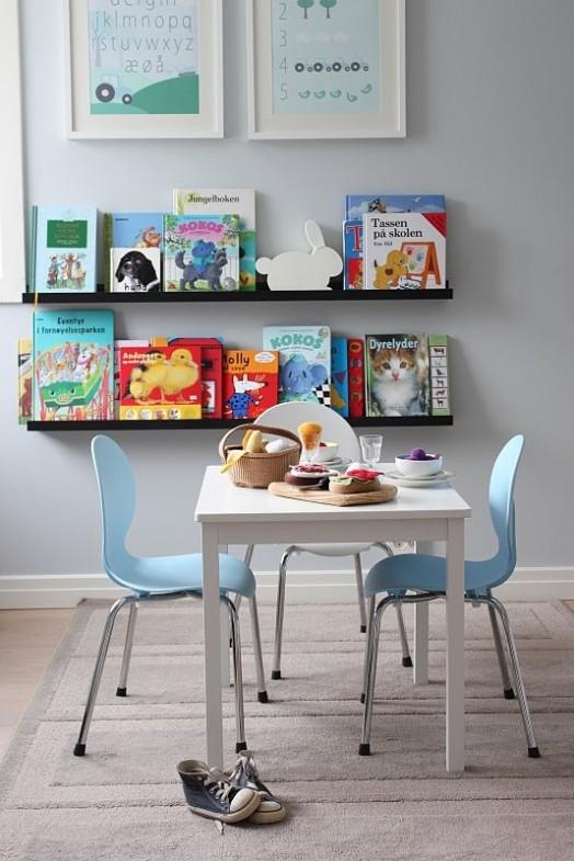 Coole Ideen Organisation von Kinderbüchereien Spielplatz Regale