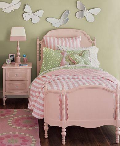 Coole Kleinkinderzimmer Ideen Mädchen Bett Wanddekoration