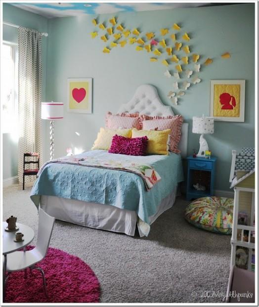 Coole Kleinkinderzimmer-Ideen Mädchen Schmetterling Wanddekoration